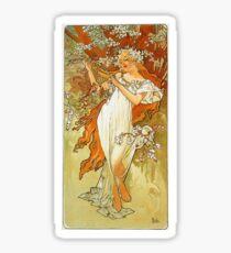 Alphonse Mucha - Spring Sticker