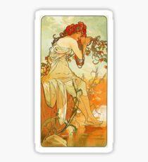 Alphonse Mucha - Summer Sticker