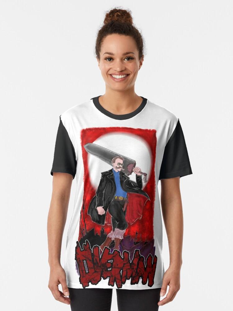 Alternate view of Overman: Nietzsche Graphic T-Shirt
