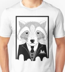 Raccoon in Suit Unisex T-Shirt