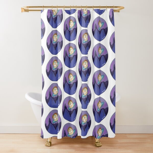 Morty's Death Crystal Space Adventure Shower Curtain