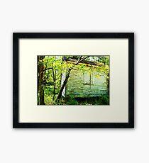 """Little old backyard building"" Framed Print"