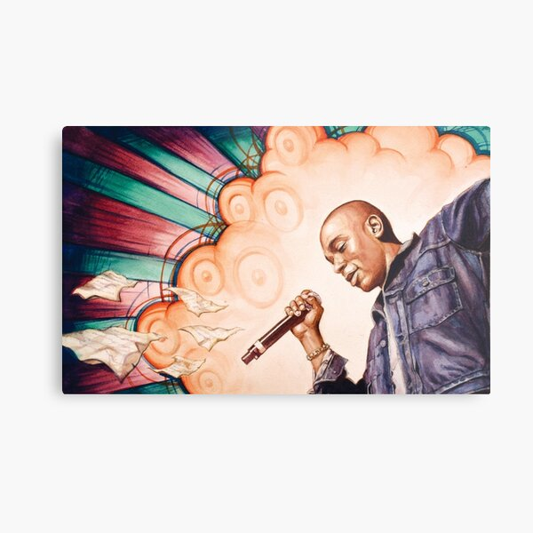 Mos Def Portrait Hip-Hop Artist Poet Lyricist MC  Metal Print