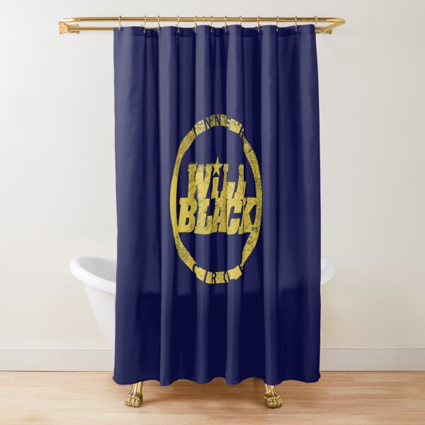 WB Inner Circle GOLD (center ice logo) Shower Curtain