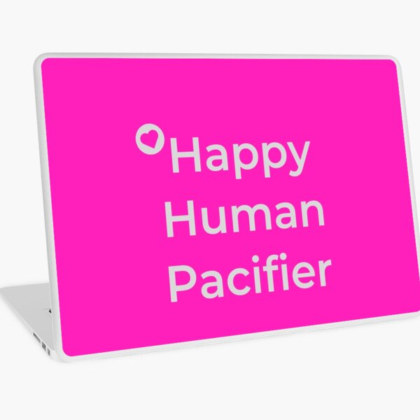 Happy Human Pacifier Laptop Skin
