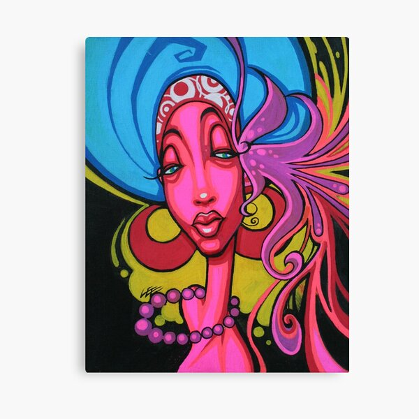 Soul Diva Funky Fresh Urban Art Fly Pop Art Canvas Print