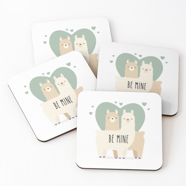 Adopt don't shop #4 - Love - Be mine Coasters (Set of 4)