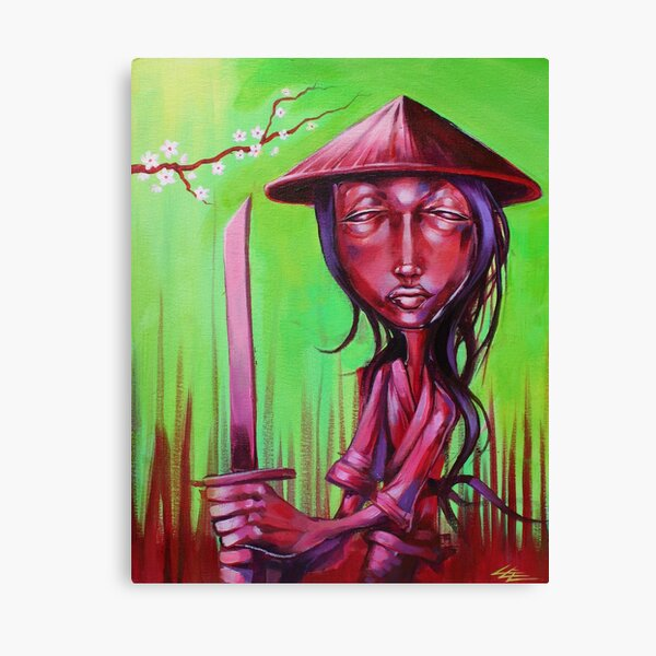 Zu Warrior Samurai Sword Lady Ninja Assassin  Canvas Print