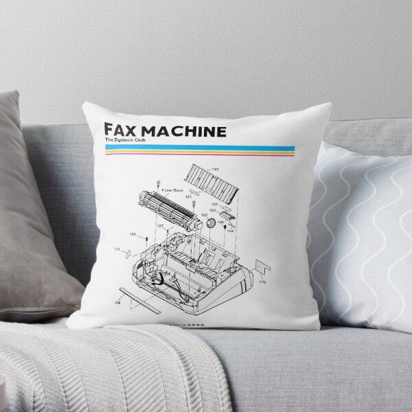 DYSLEXIC TSHIRT FAX outline  blueprint The Dyslexic Club Throw Pillow