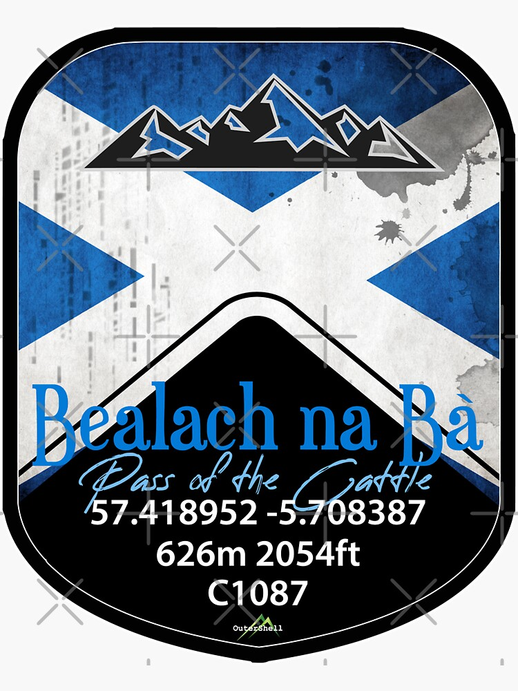 Bealach na Ba Pass of the Cattle Applecross Scotland Motorcycle Cyle Sticker & T-Shirt 02 by OuterShellUK