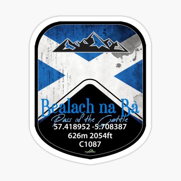 Bealach na Ba Pass of the Cattle Applecross Scotland Motorcycle Cyle Sticker & T-Shirt 02 Sticker