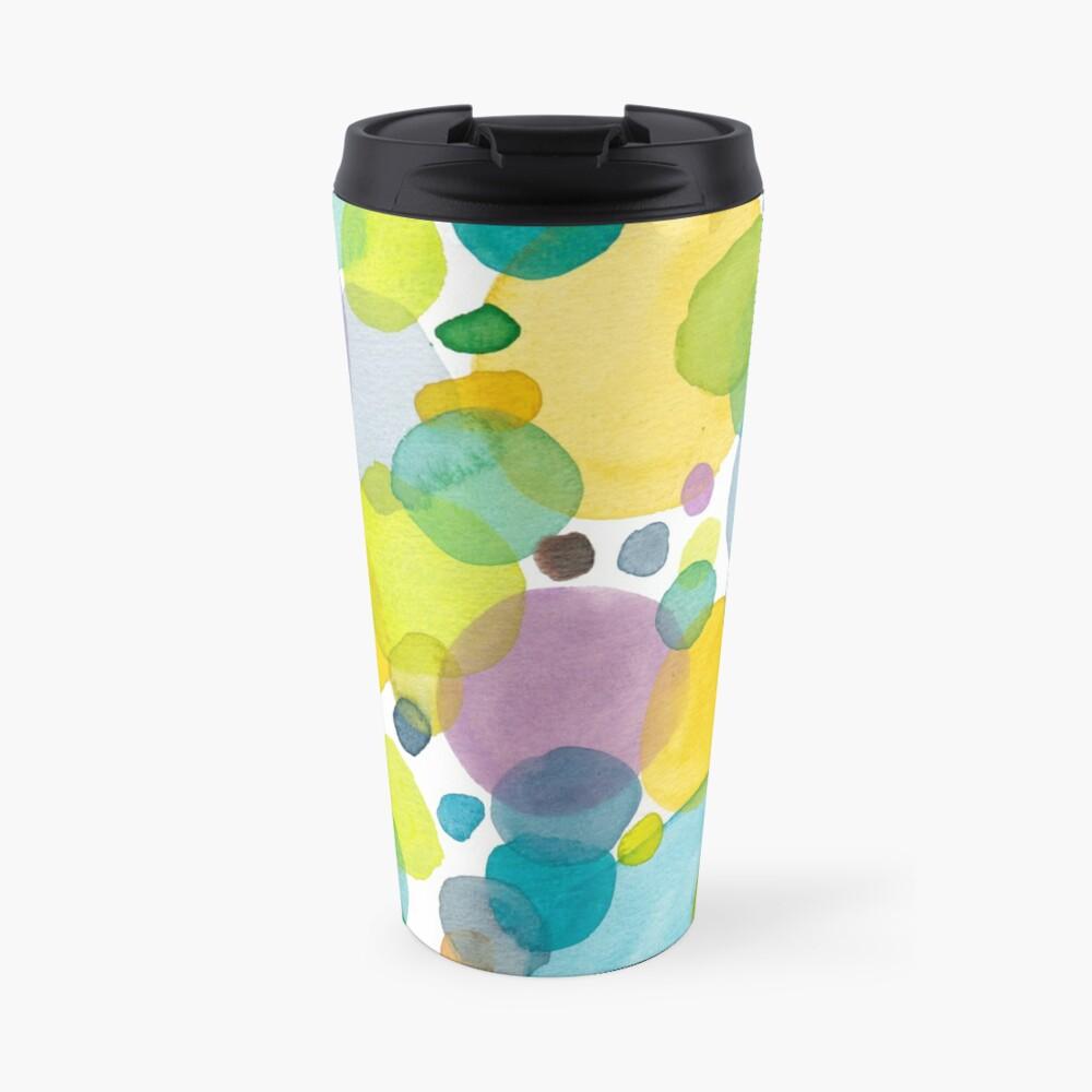 watercolor green bubbles spring pattern Travel Mug