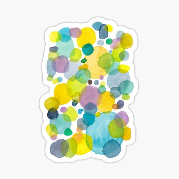 watercolor green bubbles spring pattern Sticker