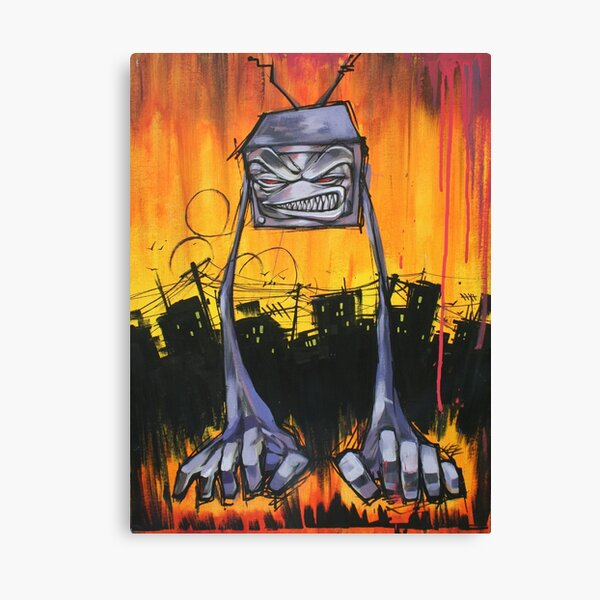 Slum TV Canvas Print