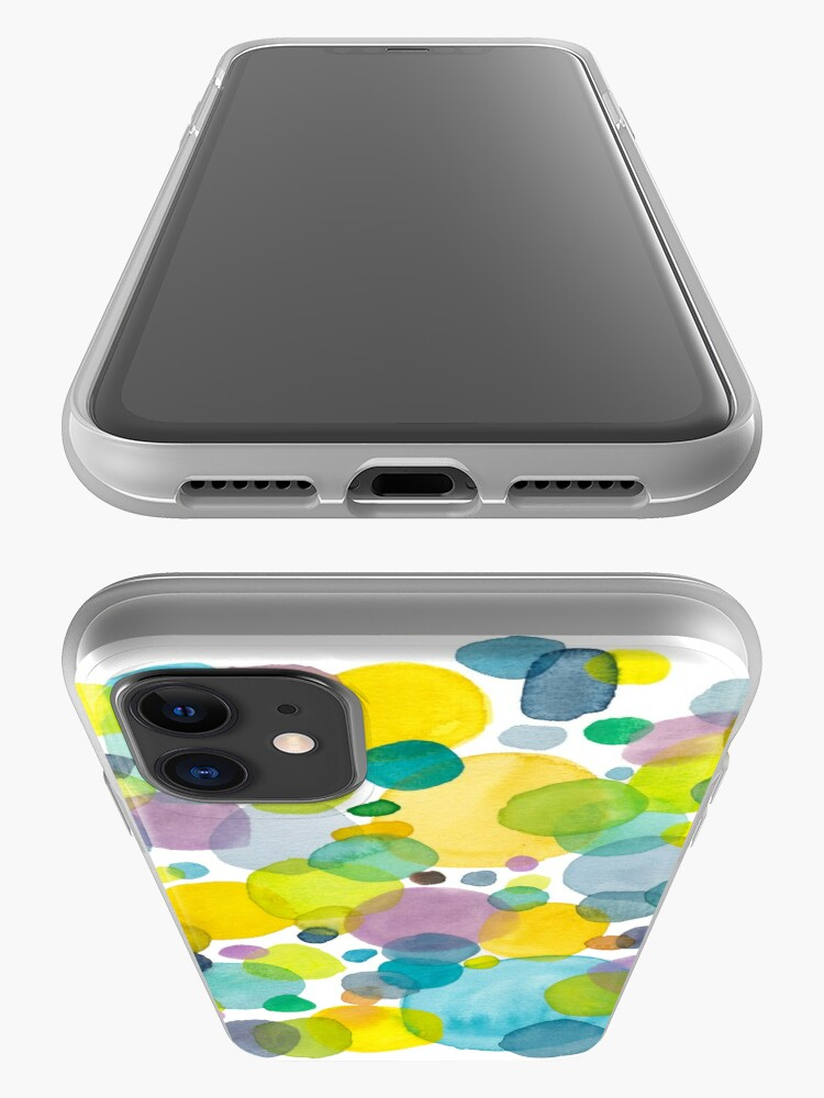Alternate view of watercolor green bubbles spring pattern iPhone Case & Cover