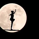 gymnast on the moon by lensbaby