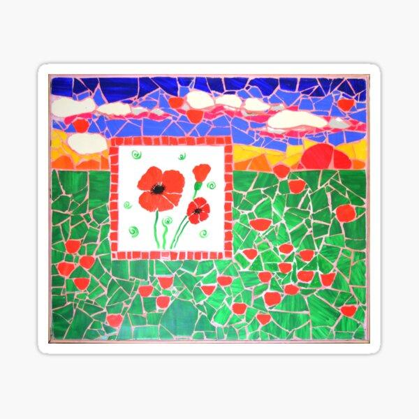 Poppies love Sticker