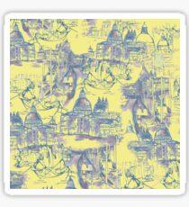 Venetian Toile. Yellow Sticker