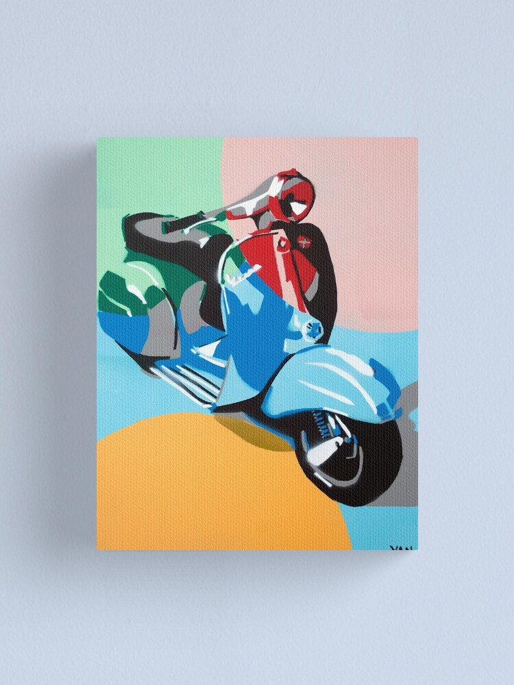 Pop Art Vespa Scooter Canvas Print By Artistyan Redbubble