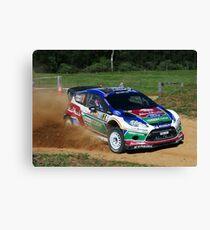Mikko Hirvonen SS12 Rally Australia Canvas Print