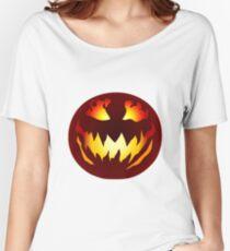 Scary Jack O' Lantern Women's Relaxed Fit T-Shirt