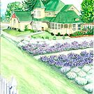Purple Ridge Lavender Farm Home by clotheslineart