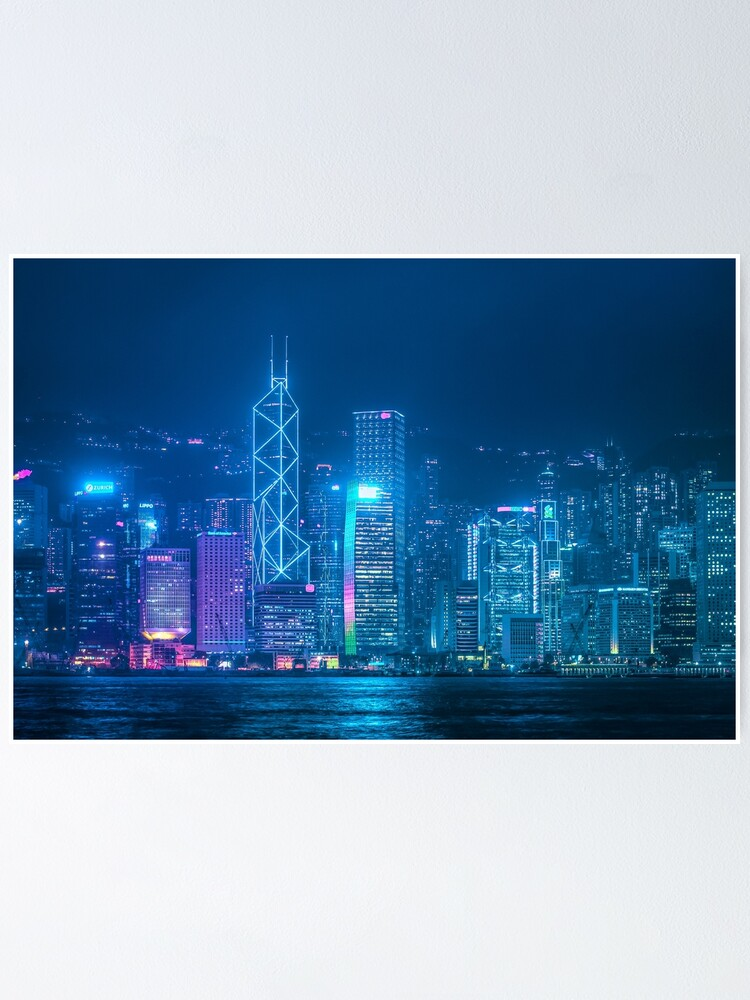Alternate view of Hong Kong Cityscape Poster