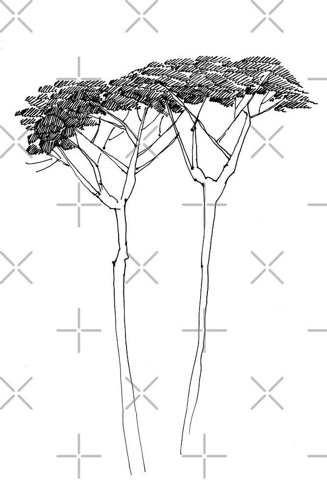 Two Trees by Aleksandra Kabakova