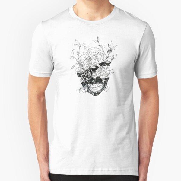 Kaneki Flower Mask Slim Fit T-Shirt