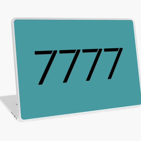 My Angel Number 7777 Laptop Skin