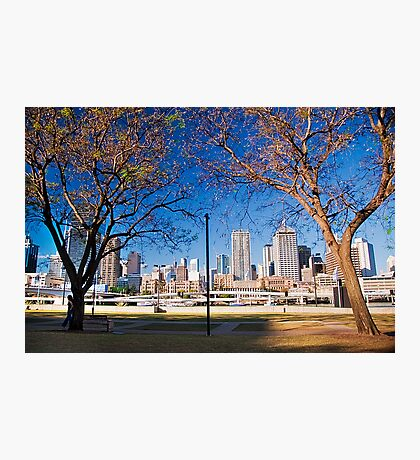 Southbank Parklands view to the city Photographic Print
