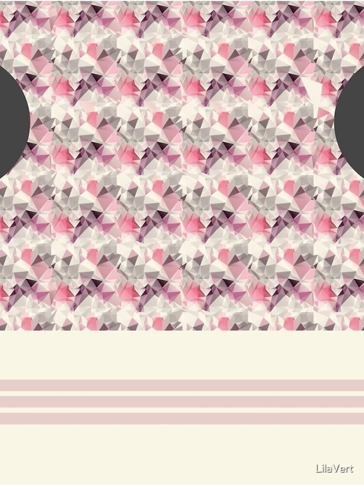 Geometric pink horse style legging by LilaVert