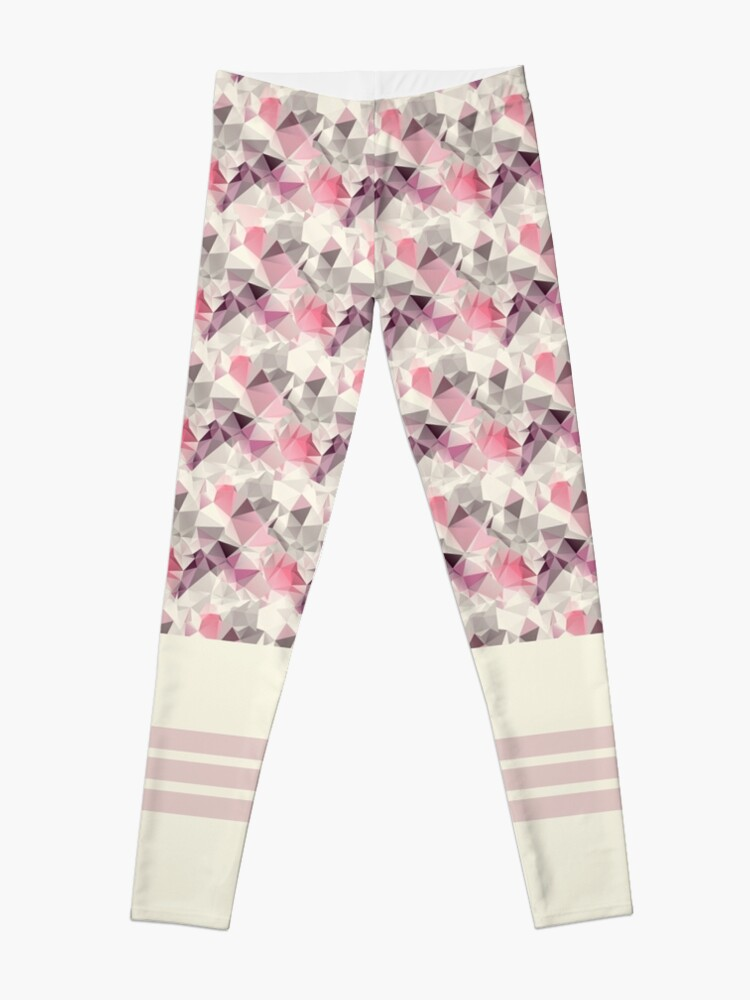 Alternate view of Geometric pink horse style legging Leggings