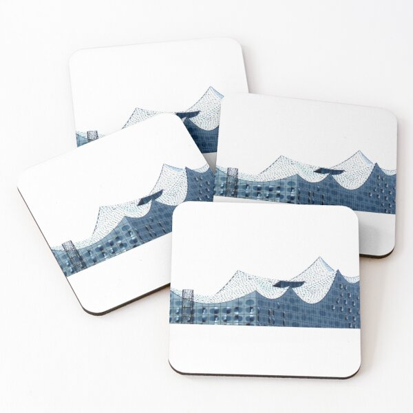 The Elbphilharmonie in Hamburg Coasters (Set of 4)