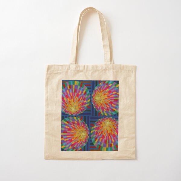 Circle, 2D shape Cotton Tote Bag