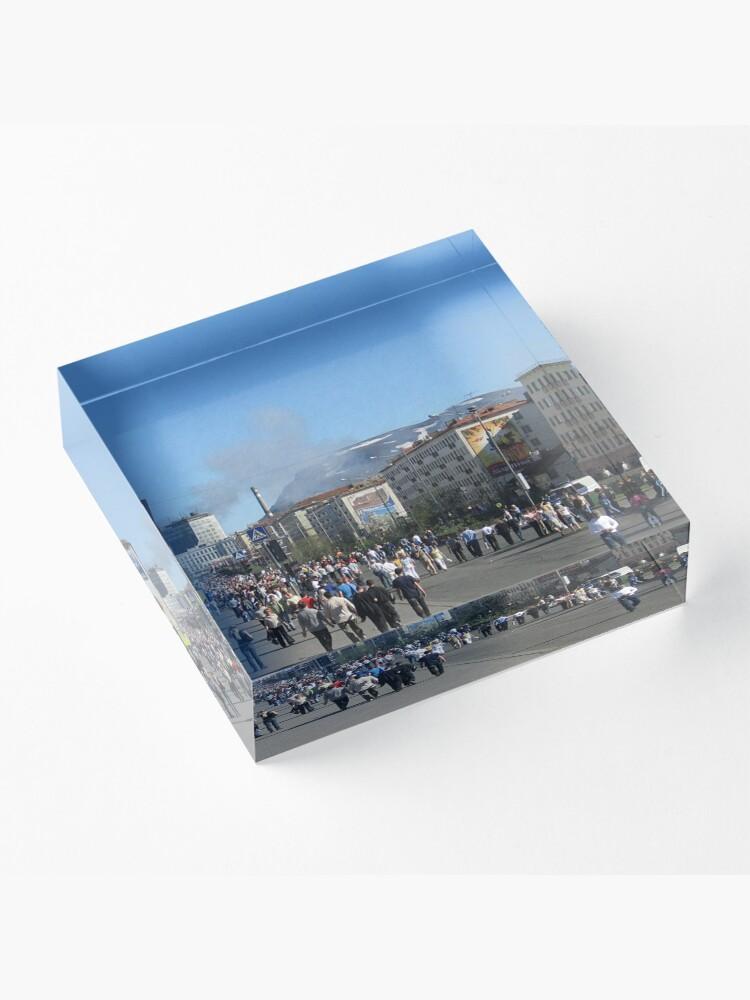 Alternate view of Город Норильск - Норильлаг. Norilsk City - Norillag #Город #Норильск #Норильлаг #Norilsk #City #Norillag #dictatorship #Антидиктатура Acrylic Block
