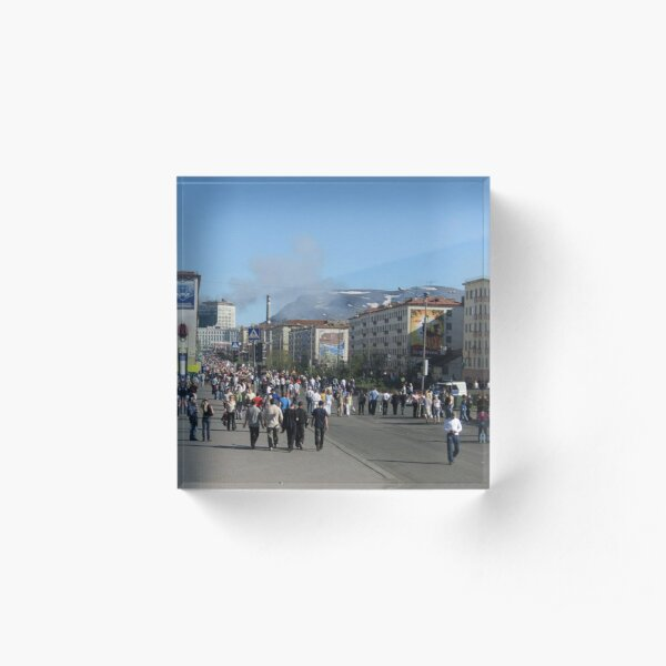Город Норильск - Норильлаг. Norilsk City - Norillag #Город #Норильск #Норильлаг #Norilsk #City #Norillag #dictatorship #Антидиктатура Acrylic Block