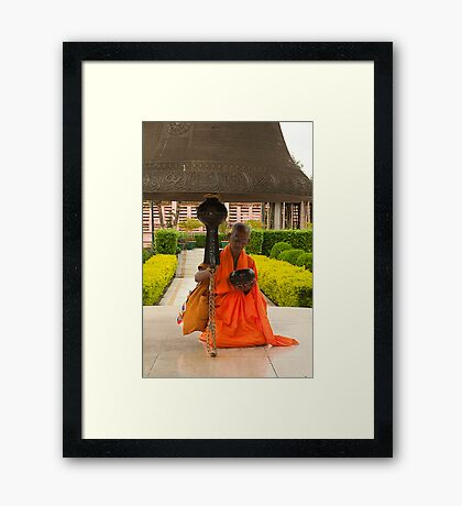 The Monk and The Prayer Bell Framed Print