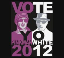 Breaking Bad shirt VOTE YO Pinkman White 2012
