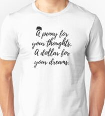 A penny for your thoughts. A dollar for your dreams. Perfect for Mac Miller rap lovers. Slim Fit T-Shirt