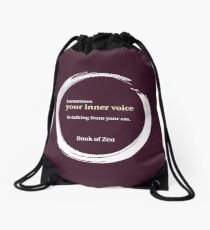 Zen Humor Quote About Contemplation Drawstring Bag