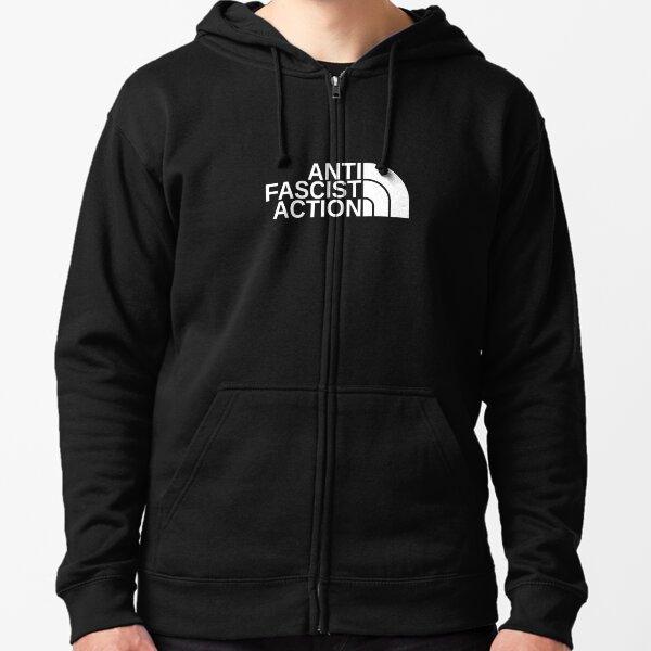 Iron Front Antifa Anti-Fascist Anti-Racist Punk Unisex Hooded Sweatshirt Hoodie
