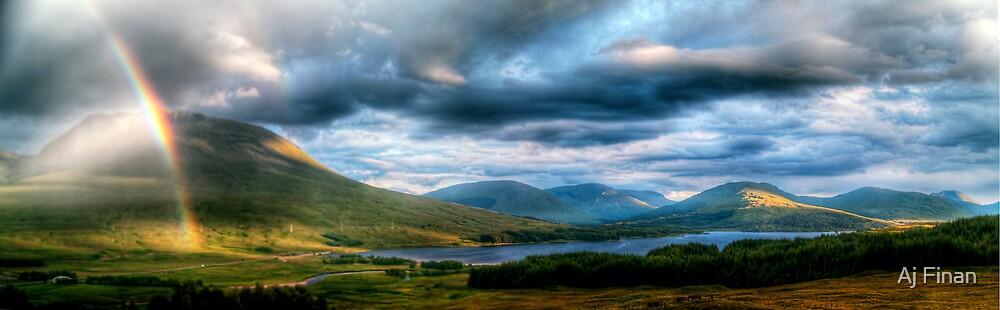 Rainbow Over Rannoch Moor by Aj Finan