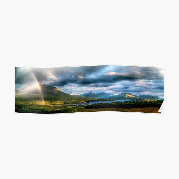 Rainbow Over Rannoch Moor Poster