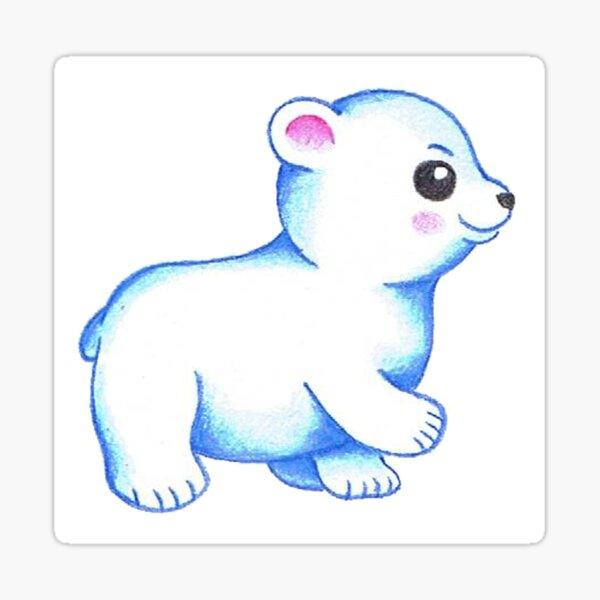 cartoon baby polarbear Sticker