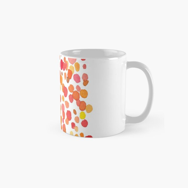 Dotty. Watercolor pattern. Red and Orange Dots Classic Mug