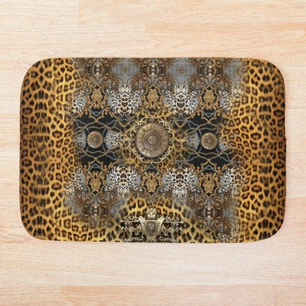 Nature Morte Luxury Animal Print Decorative Leopard Design Bath Mat