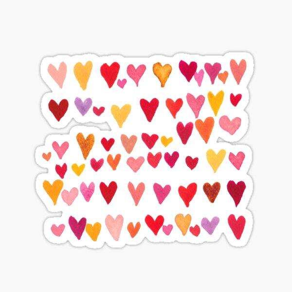 Watercolor hearts. Valentine's Day.  Sticker