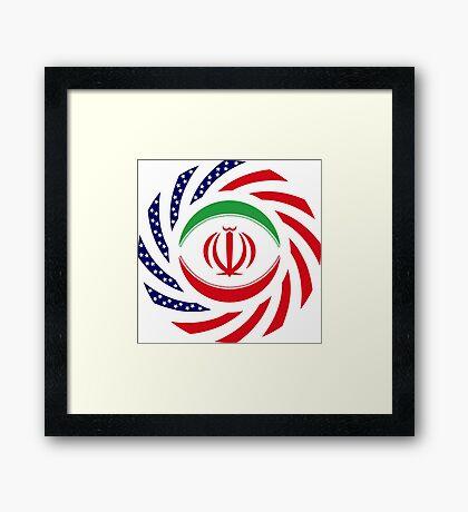 Iranian American Multinational Patriot Flag Series Framed Print