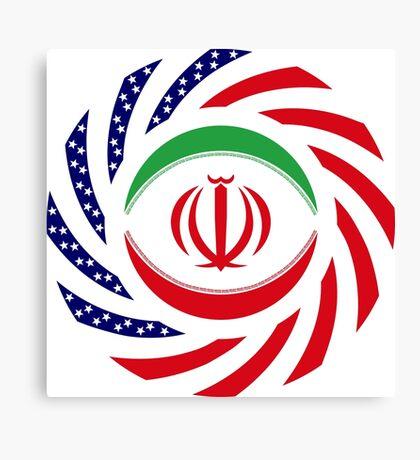 Iranian American Multinational Patriot Flag Series Canvas Print